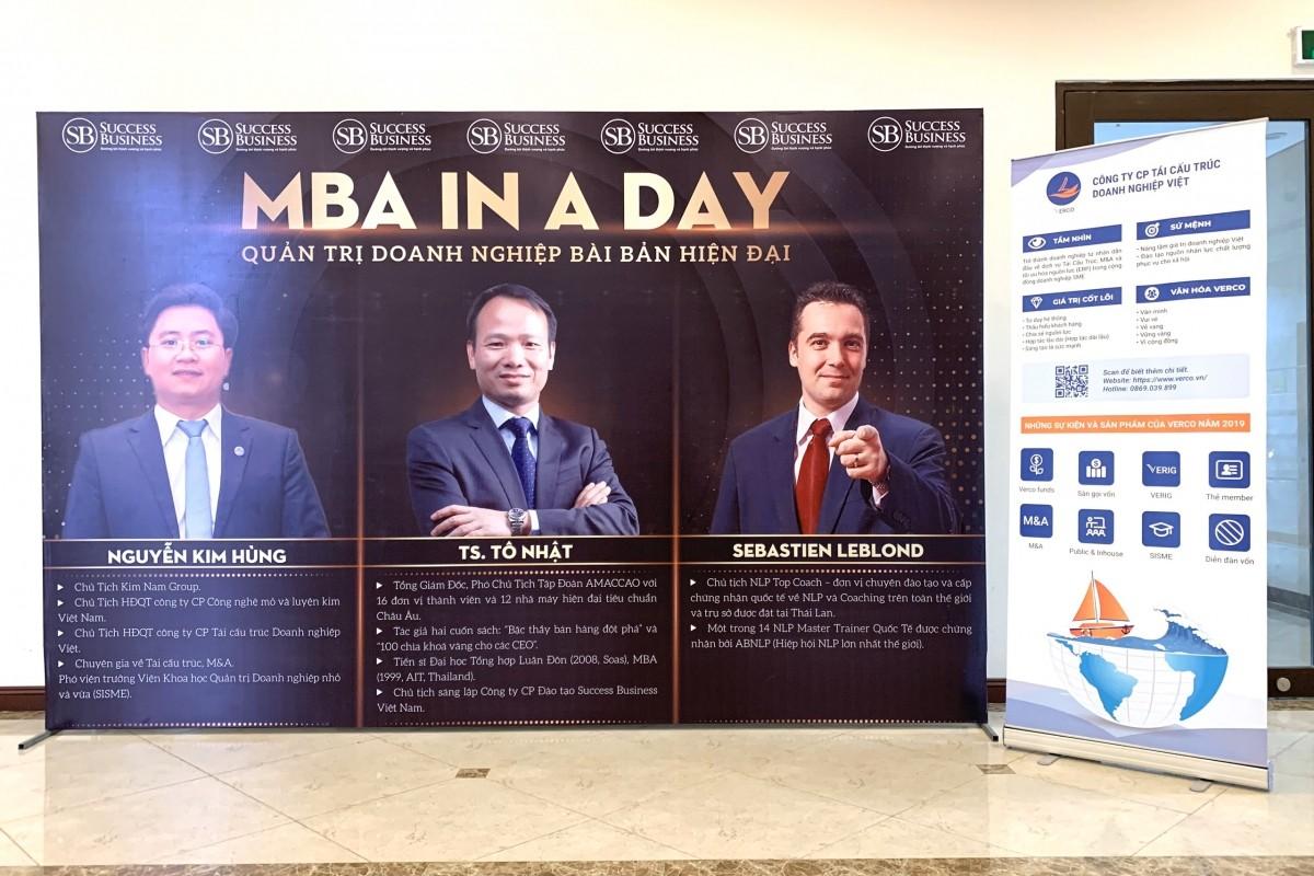 Hoạt động sôi nổi của sự kiện MBA  In a day – Quản trị doanh nghiệp bài bản hiện đại