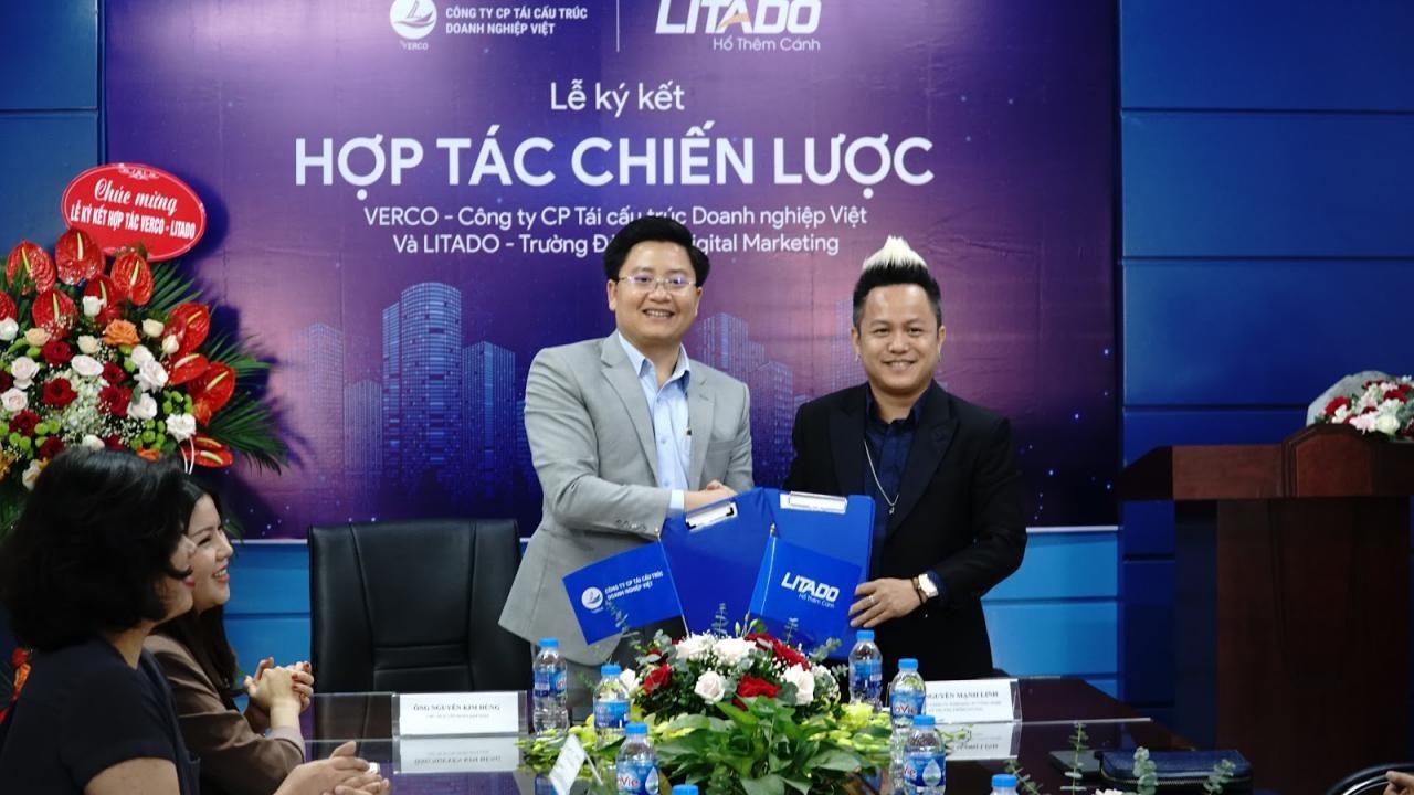 Lễ ký kết hợp tác chiến lược Verco và công ty TNHH đầu tư Công nghệ và Truyền thông LITADO Việt.