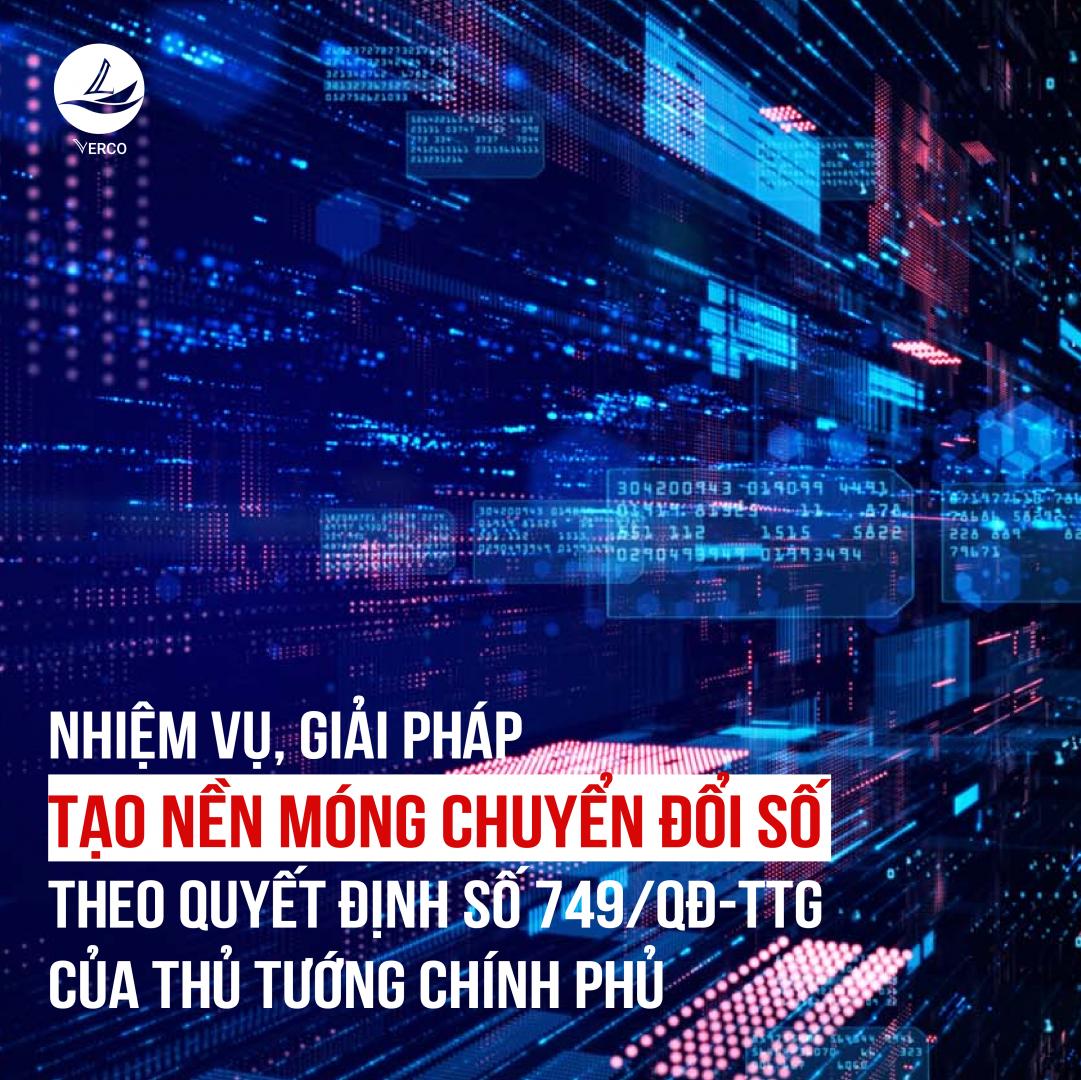 Nhiệm vụ, giải pháp tạo nền móng chuyển đổi số theo Quyết định số 749/QĐ-TTg của Thủ tướng Chính phủ